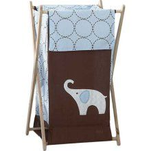 Another elephant clothes hamper - this one with an auspicous trunk up posture.