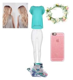 """flower power"" by ballislife ❤ liked on Polyvore featuring WearAll, Topshop and Casetify"