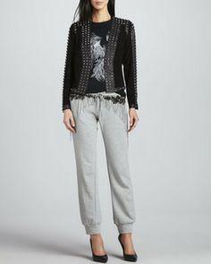 Haute Hippie Embellished Knit Sweatpants on shopstyle.com