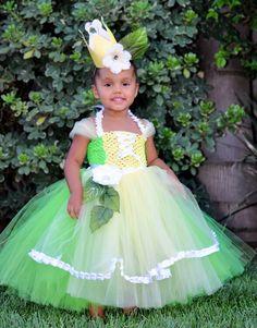 Tiana little girls costume