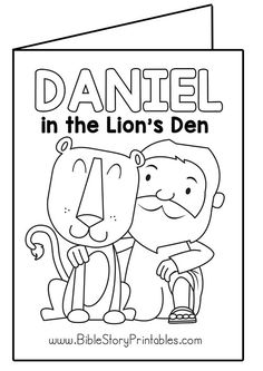 Daniel In The Lions Den Mini Book Printable. Free Bible