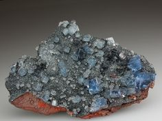 FLUORITE on HEMATITE Minerals from Florence Mine, Egremont, Cumbria, England, Europe at Crystal Classics