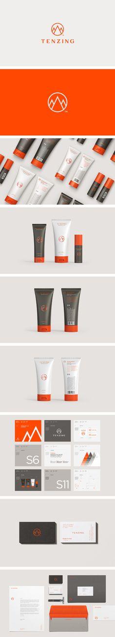 Tenzing Men's Skincare branding