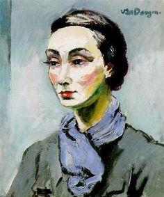 """Kees van Dongen (1877-1968) """" Portrait de Mme Grès."""""""