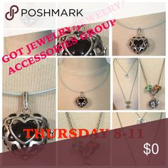 GOT JEWELRY? THURSDAY 8-11 1) you can sign up until 4:00 pm when sign up closes (EST).                                                             2) remember to # yourself off, helps to keep track of how many people we have.                       3) share 5 jewelry items and 5 accessories items.                                                                          4) all GOT JEWELRY? Sheets can be found under the accessories category Accessories