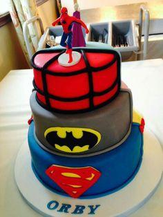 Superhero/disney princess cake
