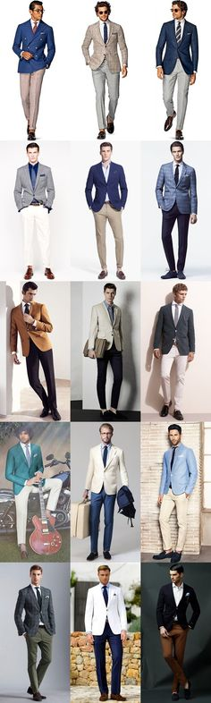 Men's Summer Weddings Smart-Casual Separates Outfit Inspiration Lookbook #MenSummerFashion