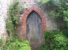 Garden door, Alfoxton Park, Holford, Somerset