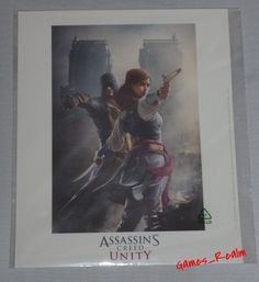 Assassins Creed Unity Arno & Elise Giclee Lithograph Pre Order Promo Limited New