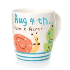 Personalized Birthday Mugs for August 4th