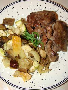 Cristina's world: Salata calda de legume cu ficat de pasare
