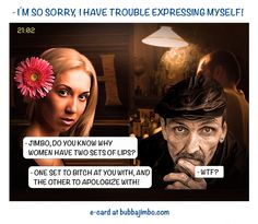 - Sorry, I have trouble expressing myself!