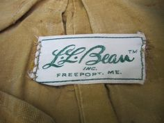 L.L. Bean sewn-in label