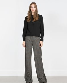 Image 1 of STRAIGHT CHECKED TROUSERS from Zara