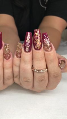 87 pretty nail art design easy 2019 you can try as a beginner page 39 Fall Nail Art Designs, Christmas Nail Art Designs, Autumn Nails, Winter Nails, Summer Nails, Holiday Nails, Christmas Nails, Unicorn Nails Designs, Pretty Nail Art