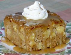 Apple Cake with Caramel Glaze this recipe is soooooo.........good my favorite fall cake