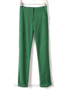 Green Beading Embellished Casual Pant -$30.19