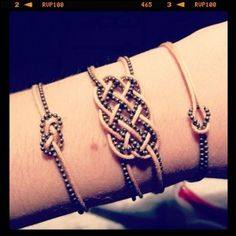 Bracelet noeud marin chinois