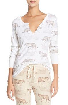 All Things Fabulous 'Tiger' Thermal Henley Sleep Shirt