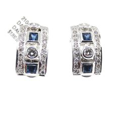 Diamond Details: 24 Round brilliant cut white diamonds of G-H color, VS clarity, of excellent cut and brilliance on each earring, weighing 0...