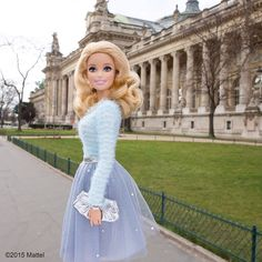 Some of the best shows during Paris Fashion Week take place at Le Grand Palais. Tip from @HelenaBordon: arrive early and catch an art exhibition as well!  #pfw #barbie #barbiestyle