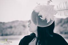 """Katelyn Thomas Photography: Preview """"On Location Maryland Beauty Portraits - Fashion Photography on the Waterfront"""" in Cecil County, Maryland. I adore this fascinator so much. We had a blast doing this beauty portrait session with a fashion edge. #katelynthomasphotography"""
