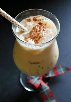 Day 8 of the 12 Days of Christmas cocktails   Traditional milk punch with the added kick of espresso liqueur.
