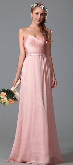 eDressit Strapless Sweetheart Pink Bridesmaid Dress