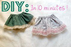 DIY baby skirt
