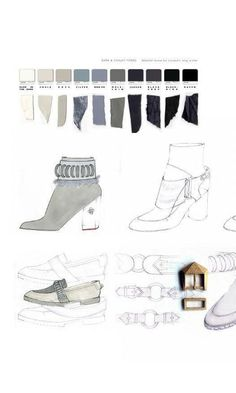 LCF SDT PORTFOLIO 2014 Fashion Sketchbook – design drawings, colors and fabrics for shoes; Illustration Mode, Fashion Illustration Sketches, Fashion Sketchbook, Fashion Sketches, Textiles Sketchbook, Fashion Drawings, Fashion Graphic, Fashion Art, Fashion Styles