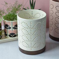 photophore lanterne crème Orla Kiely - Deco Graphic