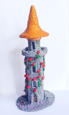 Fairytale Castle 3. Polymer Clay Castle Red by SerenissimaJewels