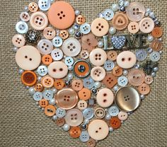 Love button art by CraftyCLE on Etsy