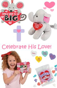 Celebrate His love on St. Valentine's Day! Cute, religious valentine crafts