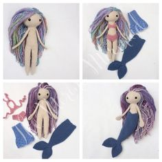 Luna of the Land and Sea Crochet Amigurumi Doll Mermaid Toy