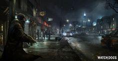 city night scenery on watch dog