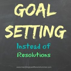 I've turned my back on resolutions in favour of goal setting! Here's the difference...