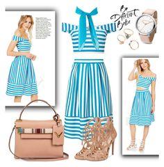 """Blue&Beige"" by sati199308 on Polyvore featuring мода, Miss Selfridge, Jessica Simpson и Valentino"
