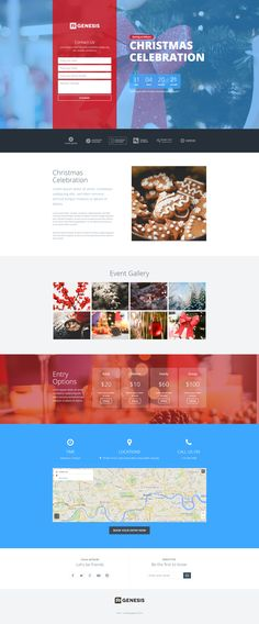 Christmas celebration landing page template