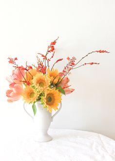 3 steps to a simple summer bouquet // florals