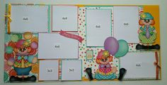 Birthday two page layout - Scrapbook.com