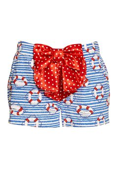 Image for Life Rings Sleep Short from Peter Alexander. preppy print