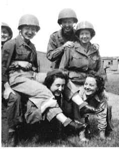 These women, like Anna Schauer, who's in this photo during her time as a WAC in WWII, were tough enough to serve and protect their country ~