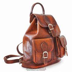 f9c128345a Pratesi Italian Leather Caporalino Leather Backpack Caporalino Leather  Backpack is made of Italian vegetable-tanned Leather.