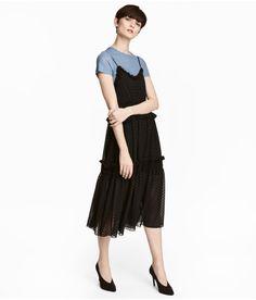 Knee-length Dress | Black/dotted | Women | H&M US