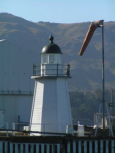 Lyttelton Harbour lighthouse - Lyttelton, Canterbury, South Island, New Zealand]. Sure I already have, but I have to have a copy of THIS photo! Bass Harbor Lighthouse, Lighthouse Art, Beacon Tower, Nz South Island, Beacon Of Light, Bays, Light House, Windmills, Cathedrals