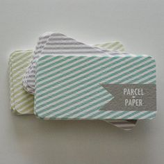 love the stripes... would be better if traditional card size