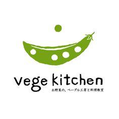 ベジキッチンのロゴマーク。 福岡にある、お野菜の、ベーグル工房と料理教室のようです。
