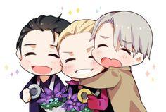 Viktor, Yurio et Yuri chibi - Yuri ! ! On ice