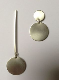 Asymmetrical Jewelry by Rina S. Young: Silver Necklace available at www.artfulhome.com